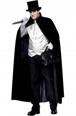 Costume uomo vittoriano Sherlock Holmes o jack lo squartatore