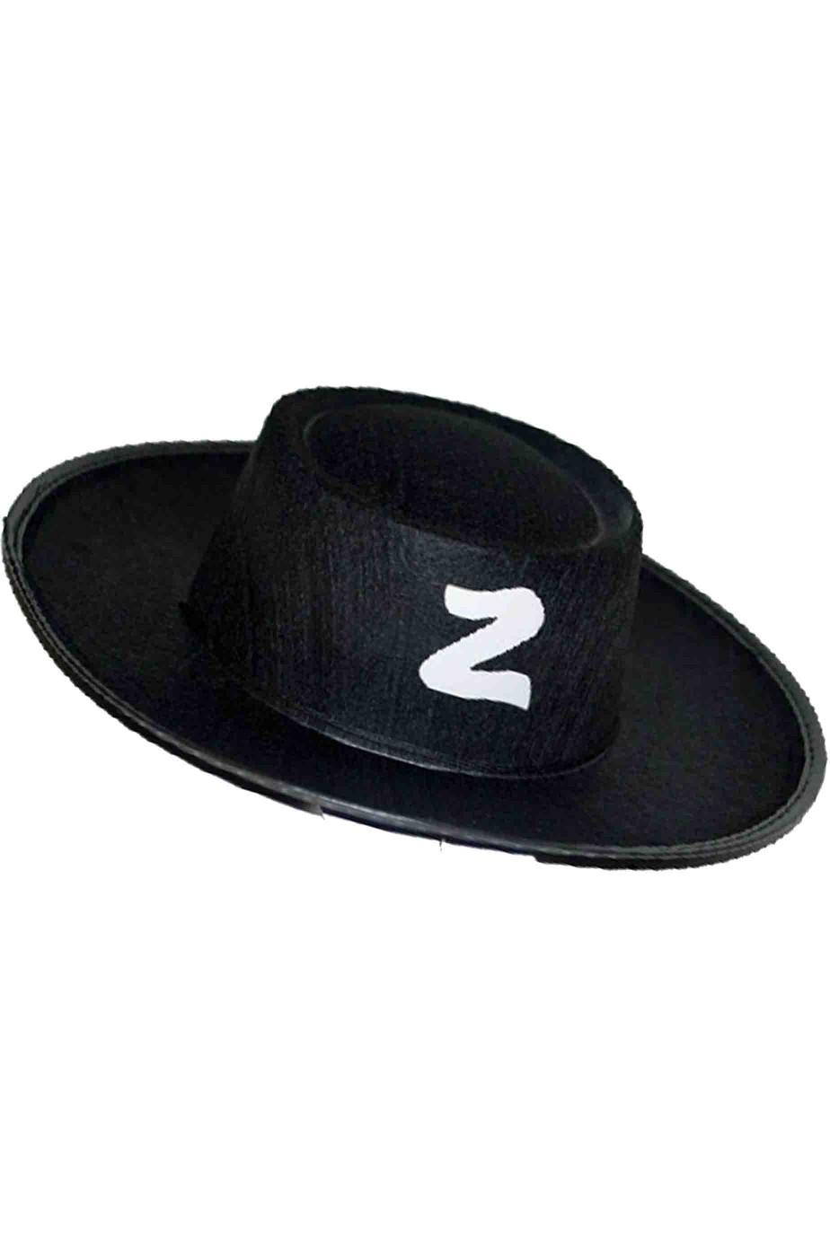 Cappello di Carnevale da Zorro per bambino nero con Z bianca d6998924b320