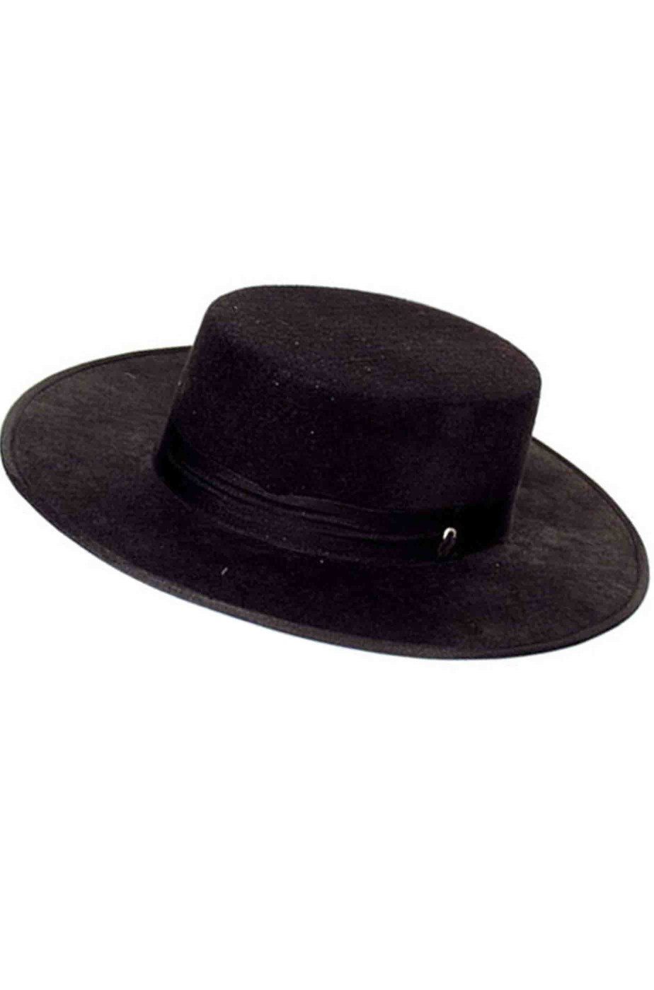 Cappello di Carnevale bolero Zorro V per Vendetta adulto nero adulto c6ca208b3843