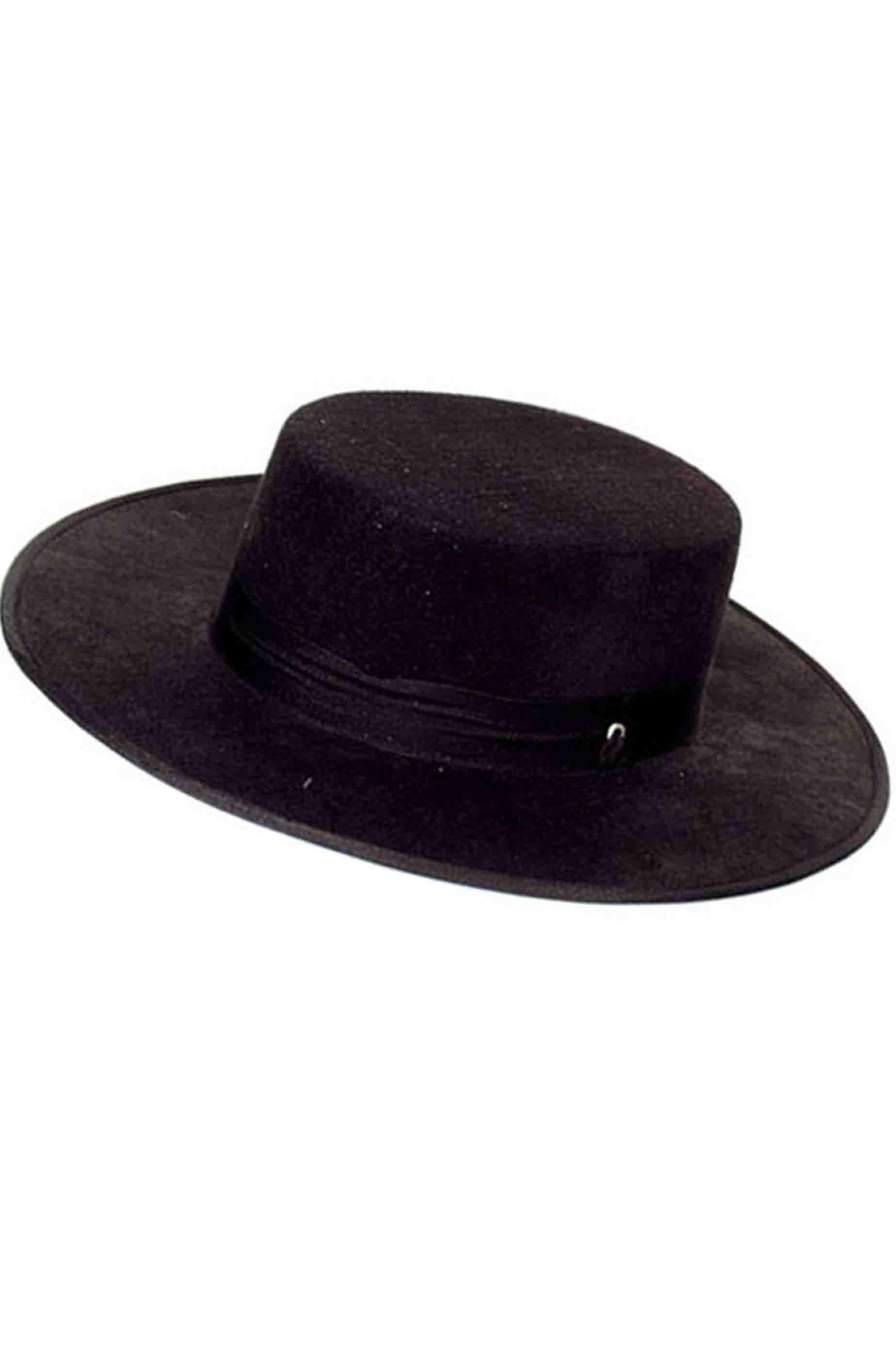 Cappello di Carnevale bolero Zorro V per Vendetta adulto nero adulto 1cdbf471808c