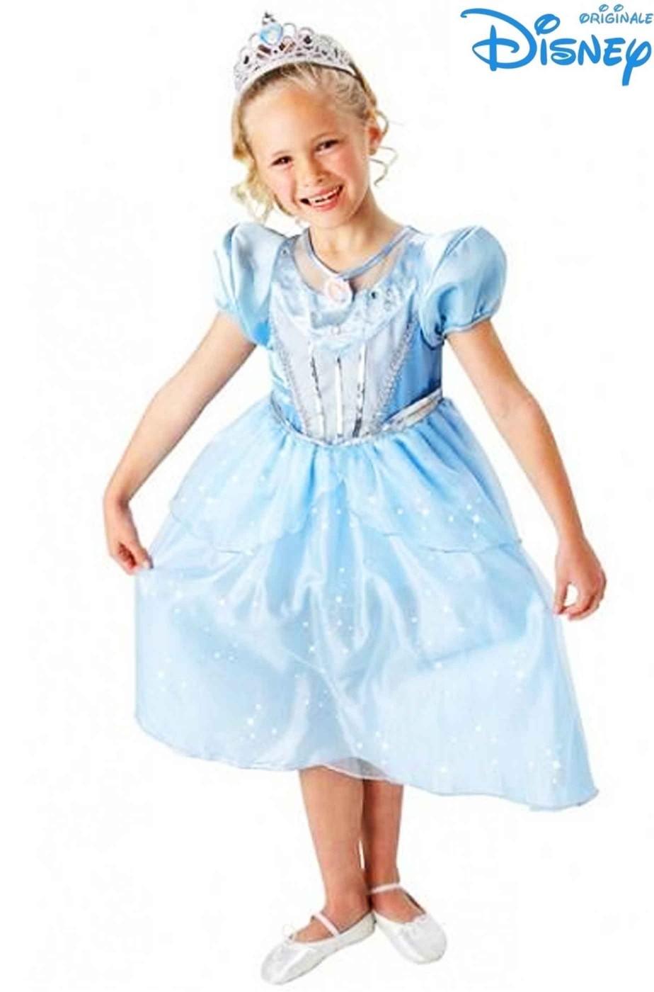 prezzo minimo scarpe originali come ottenere Vestito di Carnevale bambina di Cenerentola originale Disney luminoso
