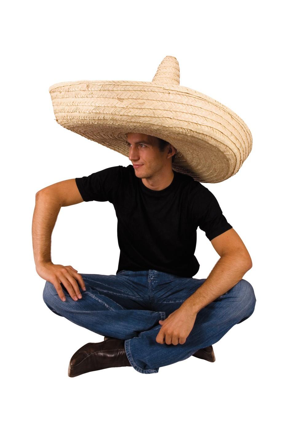 Sombrero messicano di carnevale in paglia diam.ben 100 cm color ecru 9fdfda812828