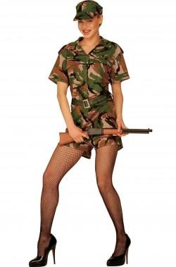 Costume soldatessa militare
