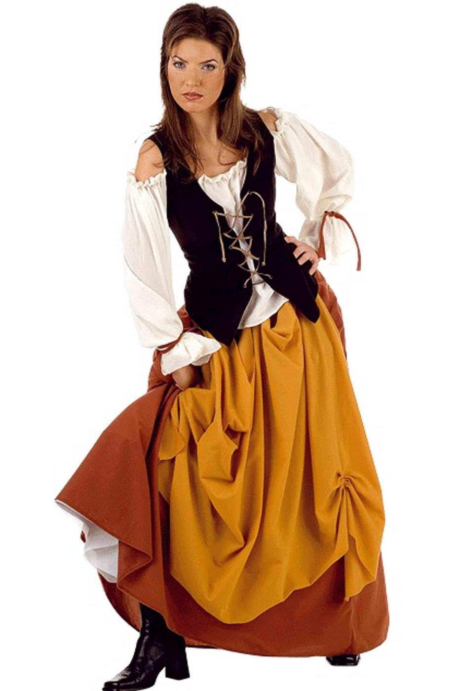 vestito di carnevale adulto pirata corsara bucaniere zingara popolana 19a38c9bcae