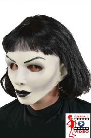 Maschera mimo donna horror con capelli qualità professionale.