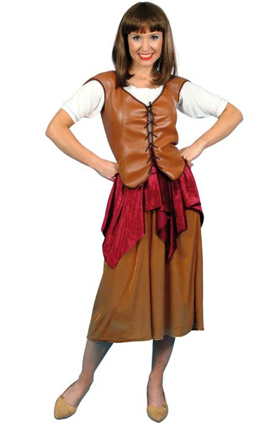 Vestito di carnevale donna pirata corsara bucaniere zingara popolana 571e5794752