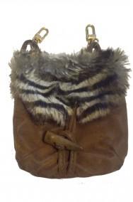 Borsa o Borsetta sacchetto medievale con pelliccia finta