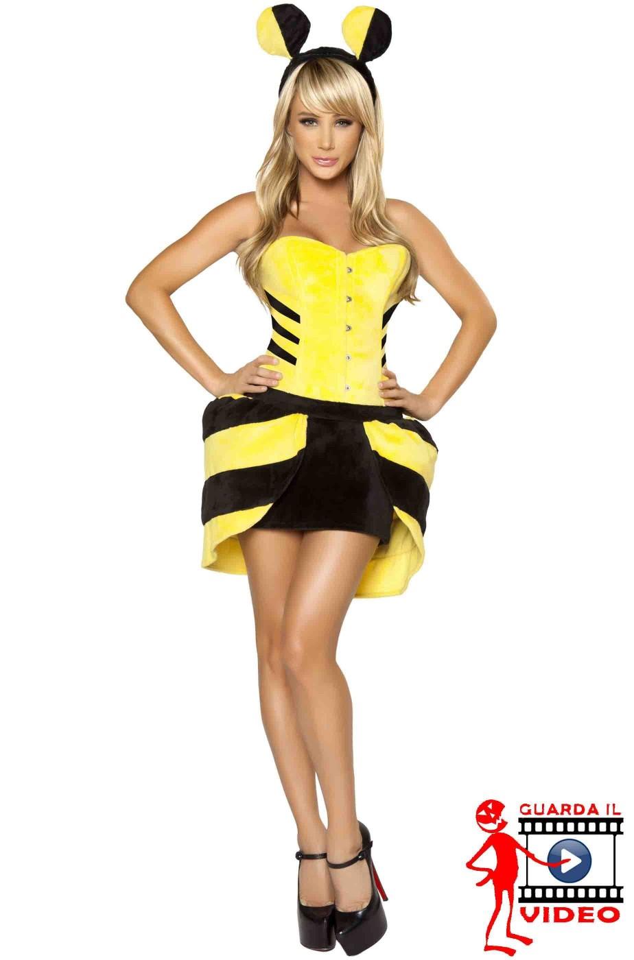 Vestito di carnevale da ape donna adulta bellissimo