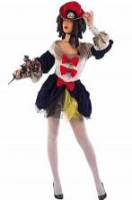 Costume donna due in uno 700 o arlecchino. Qualita' teatrale.