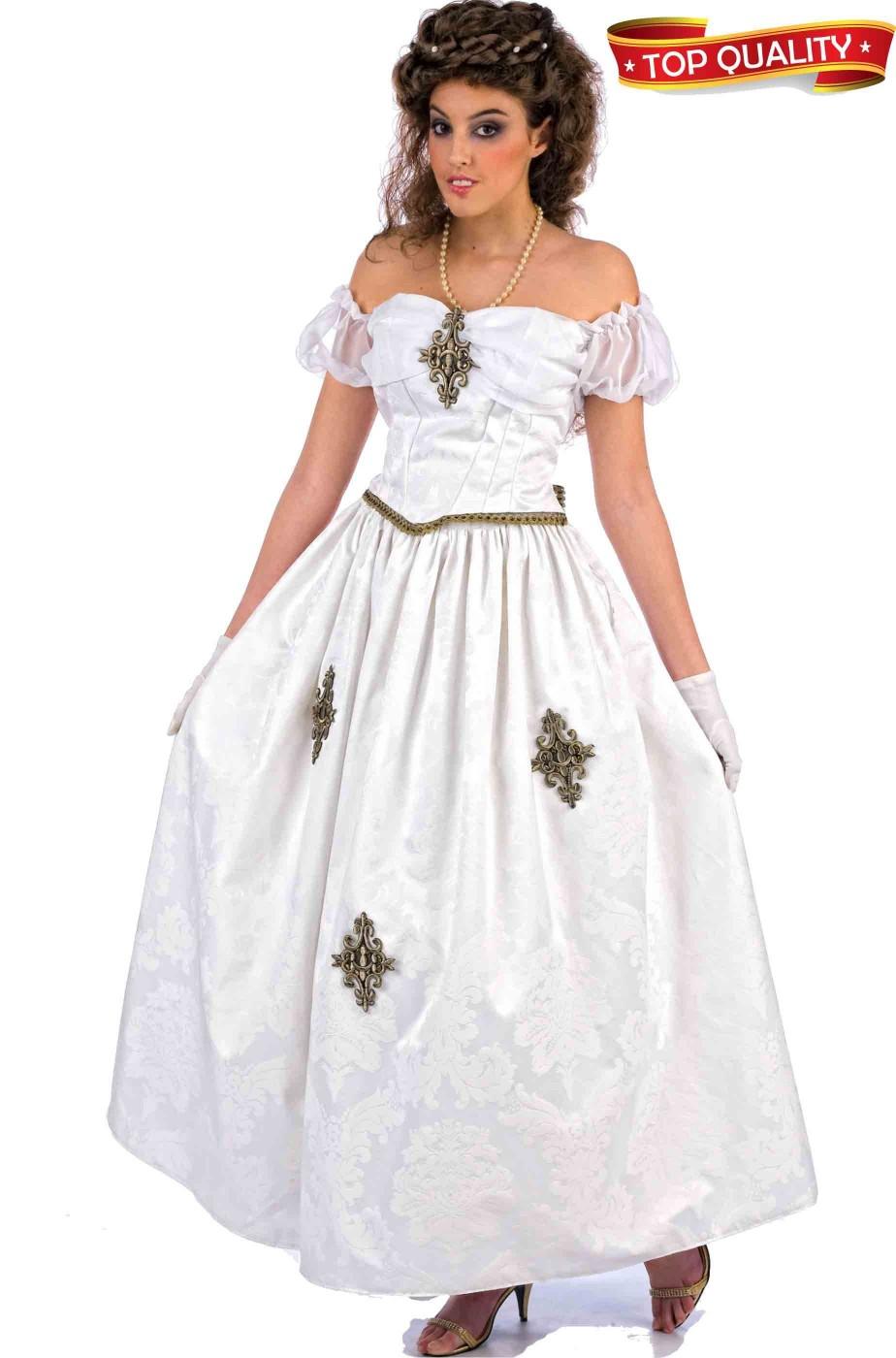Costume donna Regina Bianca. Qualita' teatrale.
