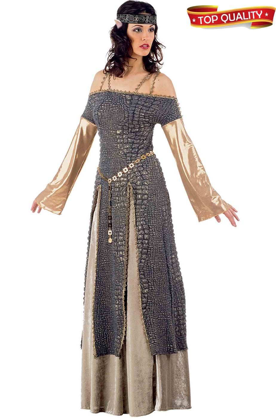 Costume donna Regina Medievale Meraviglioso. Qualita  teatrale celtica. a9a08bde053c