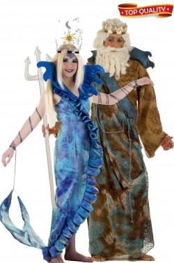 Coppia Sirena e Nettuno Top Quality Festa Lusso