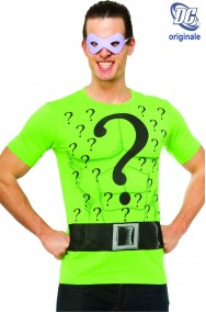 T-shirt DC Comics Enigmista Riddler con maschera