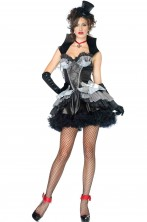 Costume donna Vampira nera Burlesque