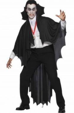 Mantello da pipistrello vampiro adulto 183 cm