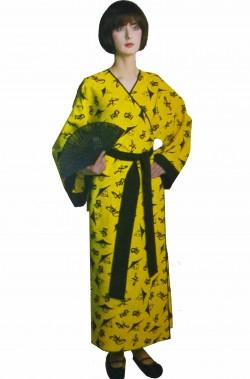 Costume da cinese adulta giallo e nero