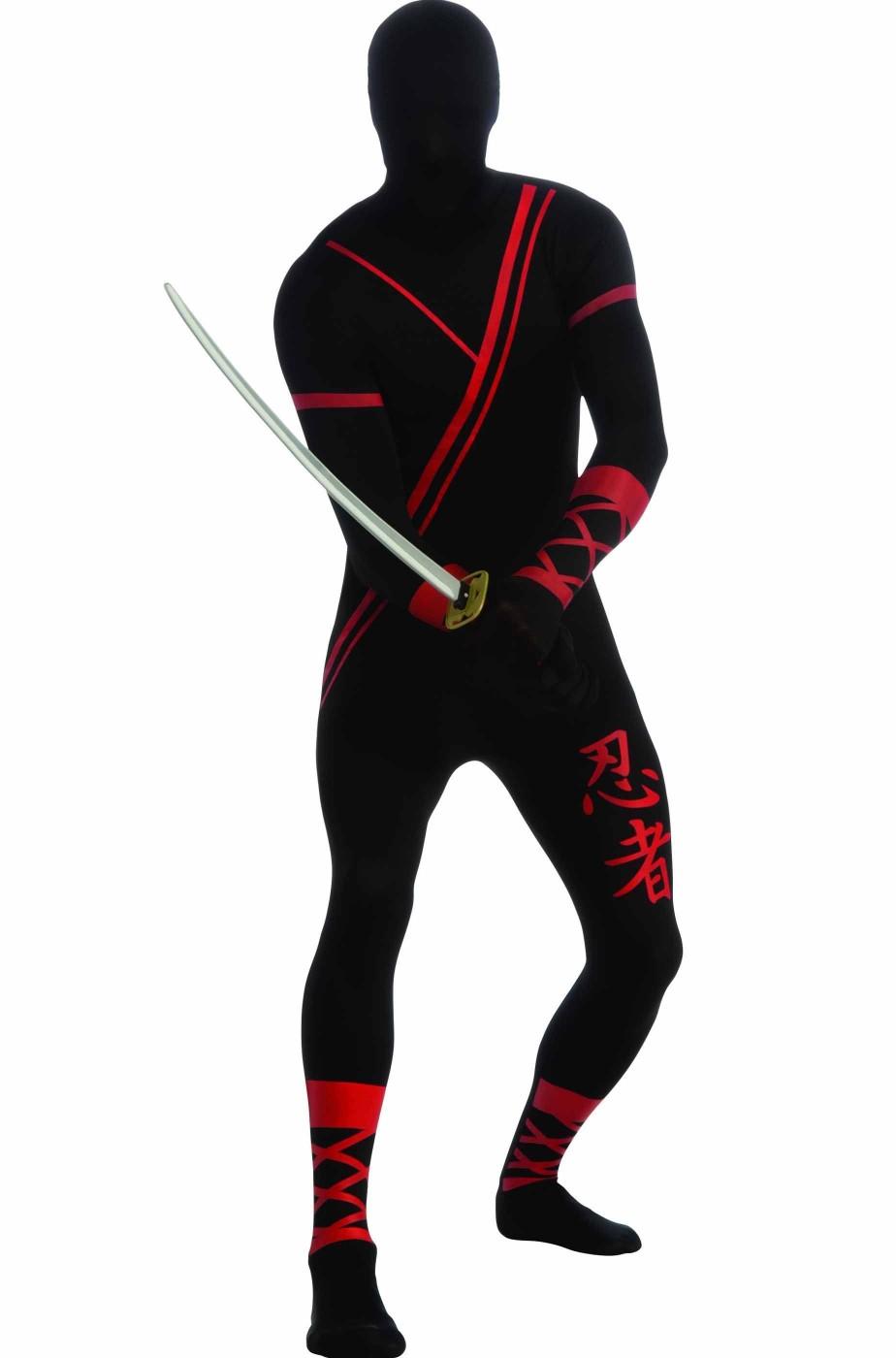 risparmi fantastici prezzi economici qualità affidabile Costume di carnevale o Halloween uomo nero Integrale tuta ninja adulto