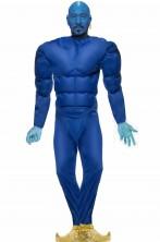 Tuta blu con muscoli per fare Il Genio di Aladdin o Aladin