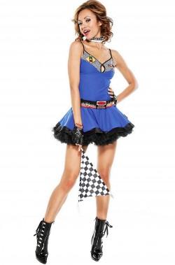 Costume donna sexy ragazza delle bandierine