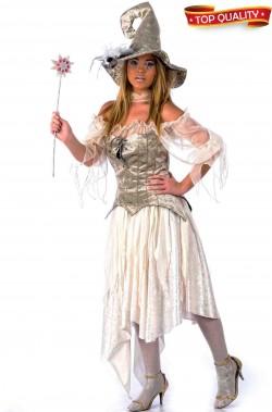 Costume da strega bianca fattucchiera dei ghiacci donna adulta