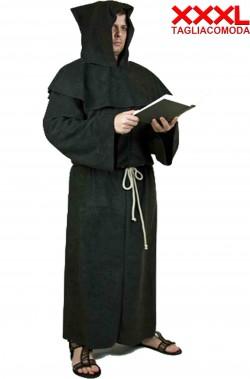 Costume o saio Monaco o frate medievale nero taglia comoda