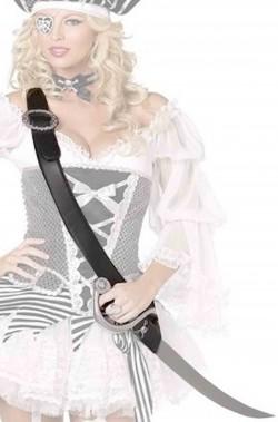 Set o kit cinturone a bandoliera da pirata e sciabola
