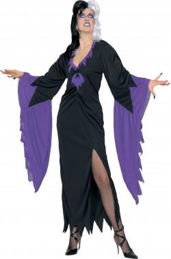 d239267e772f Costume vampira lungo nero e viola. Costume donna vampira lungo con spacco. Costume  donna vampira per il tuo halloween Questo vestito di ...