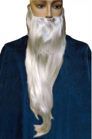 Barba lunga bianca per Gandalf il bianco dal film il signore degli Anelli per Merlino e Panoramix Saruman
