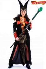 Costume Halloween Adulta Diavola Diavolessa Diavoletta lungo