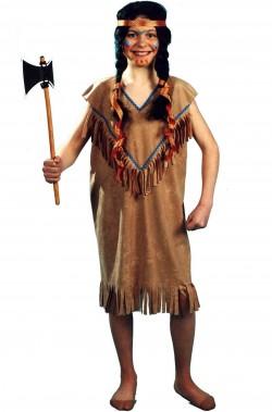 Costume carnevale Bambina Indiana marrone
