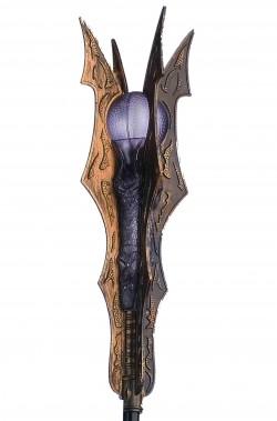 Bastone da Cosplay Sauron mago negromante con effetti luminosi