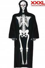 Costume uomo scheletro taglia comoda forte