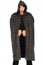 Mantello medievale vichingo barbaro nano grigio