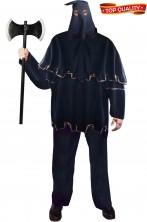 Costume da Boia medievale adulto nero cinematografico