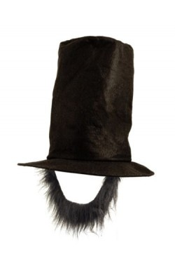 Cappello e barba abramo lincoln