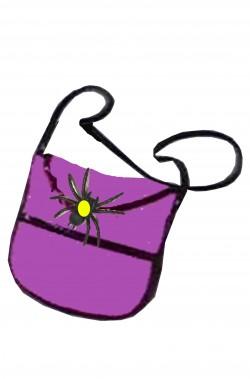 Borsa o borsetta da strega con ragno rosa
