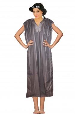 Costume donna araba adulta grigia con ricamo
