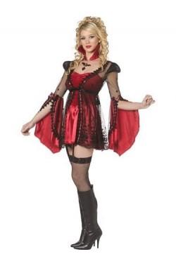 62547380d9c5 Costume Vampira diavola con maniche larghe... Abito per Halloween da  vampira o diavola rosso donna adulta Vestito di carnevale ...