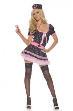 Costume infermiera rosa adulta taglia unica