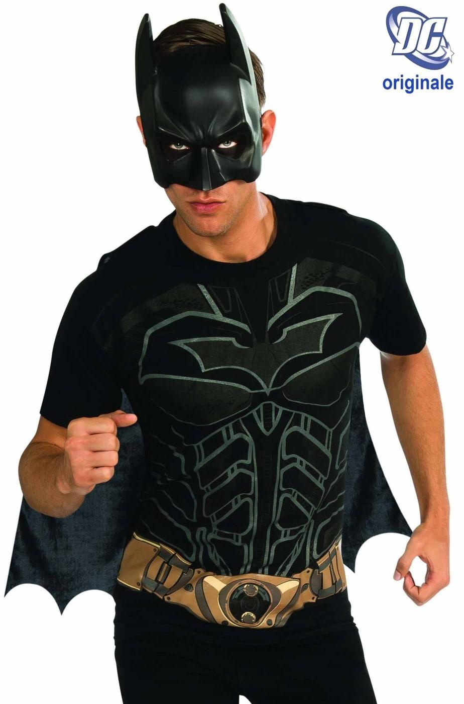 T-shirt DC MAGLIETTA Comics Batman con mantello e maschera