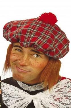 Cappello scozzese con capelli celtico
