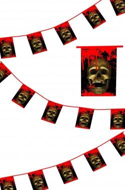 Allestimento Halloween striscione con teschi sanguinanti anche per pirati m.7