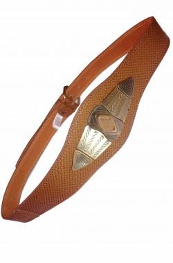 Cintura in pelle per romana o romano con grande fregio