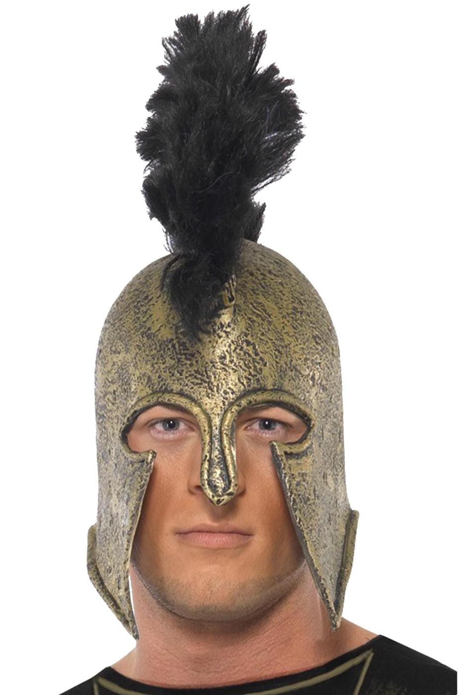 Elmo da soldato guerriero antico greco e spartano
