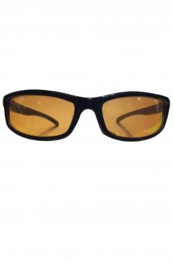 Occhiali Anni 80 neri lente arancione UV