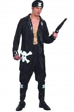 Costume adulto pirata nero
