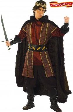 Abito principe o re Riccardo medievale adulto alta qualità
