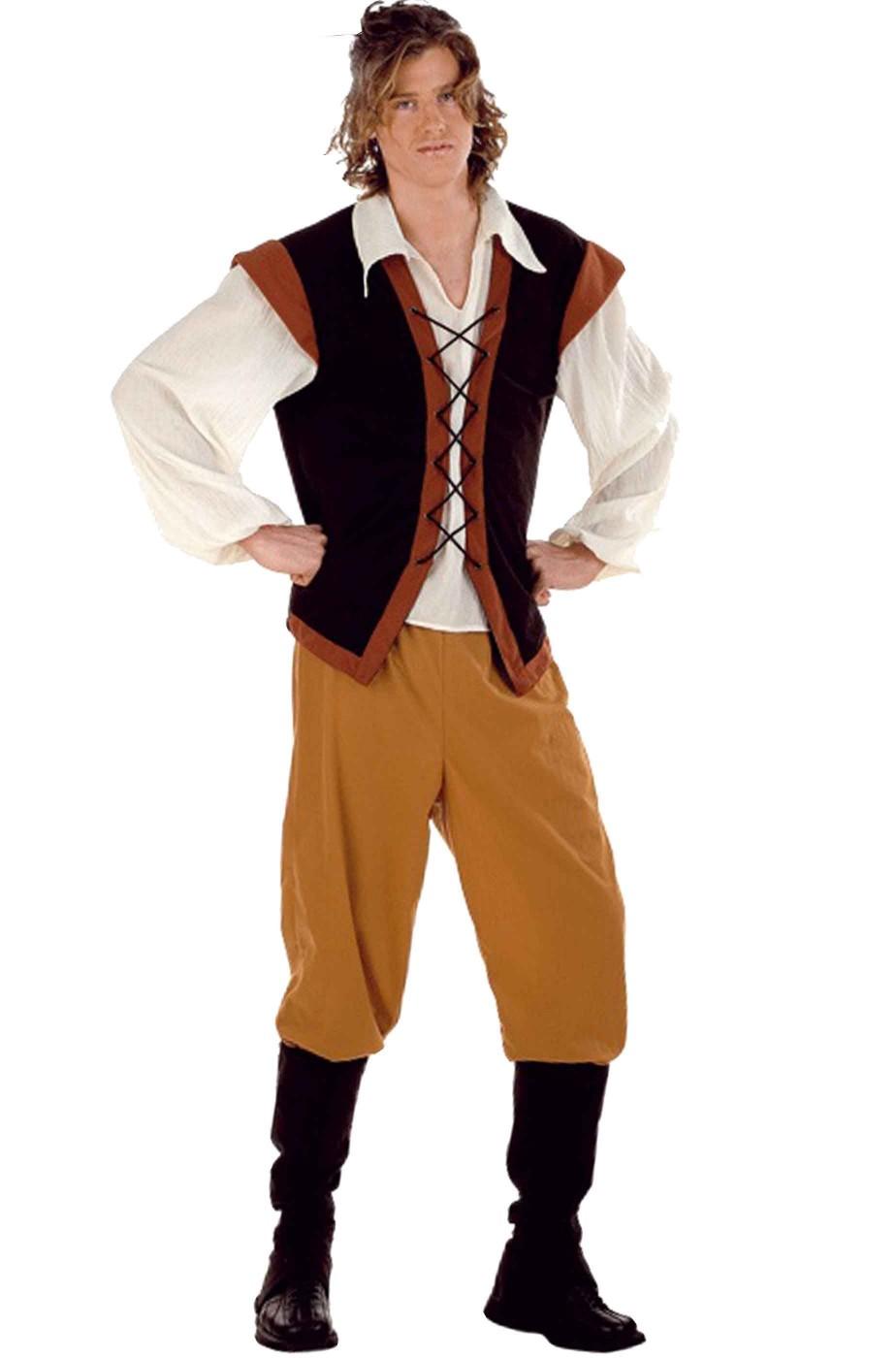 abito di carnevale uomo pirata corsaro zingaro popolano locandiere oste 527f46c6aaf