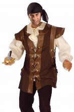 gilet senza maniche per costume da medievale o pirata