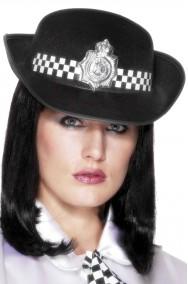 Cappello Poliziotta Inglese Nero